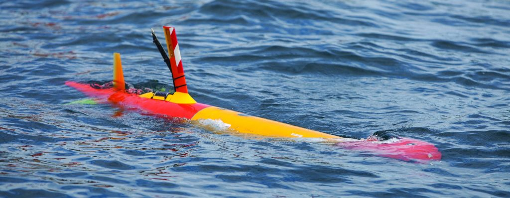 The six-year-old, half-million-dollar AUV (autonomous underwater vehicle) invented by the Monterey Bay Aquatic Research Institute (MBARI). Photo by Steven Herppich.