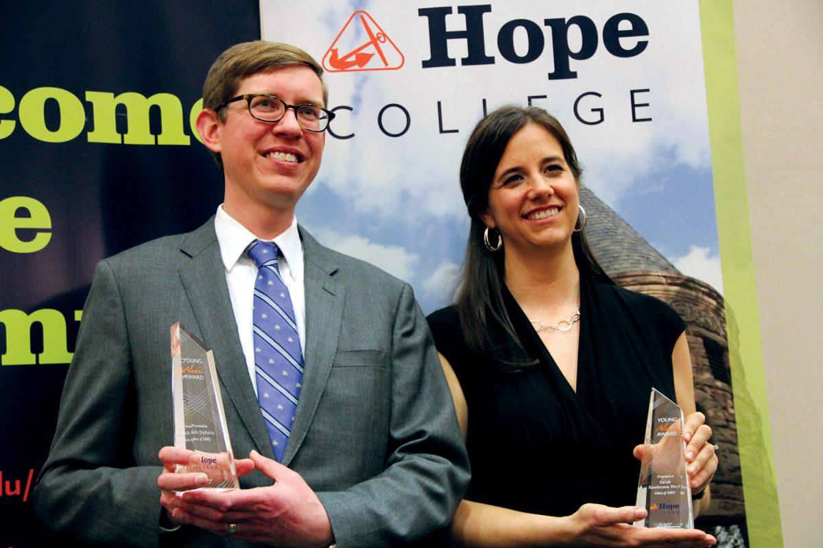 Association Honors Two Young Alumni