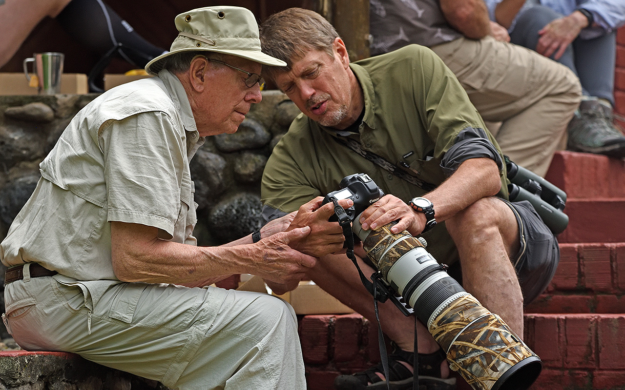 Dr. Eldon Greij, a professor emeritus of biology and respected ornithologist, and Dr. Tim Laman, '83, a field biologist and award-winning wildlife photographer co-led a trip to Tanzania this May with the Hope College Alumni Association for alumni and friends of the college.