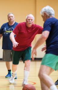 Dennis plays noonball.