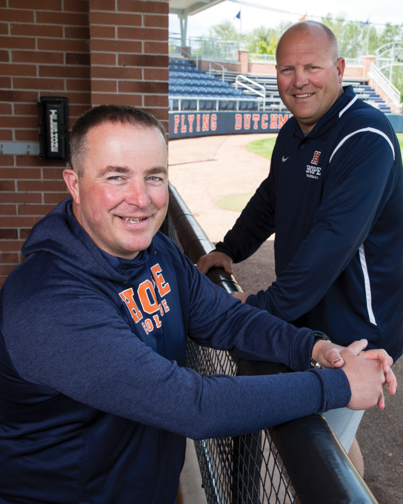 Matt Garvelink and Stu Fritz at Hope College Boeve Baseball Stadium. 2018