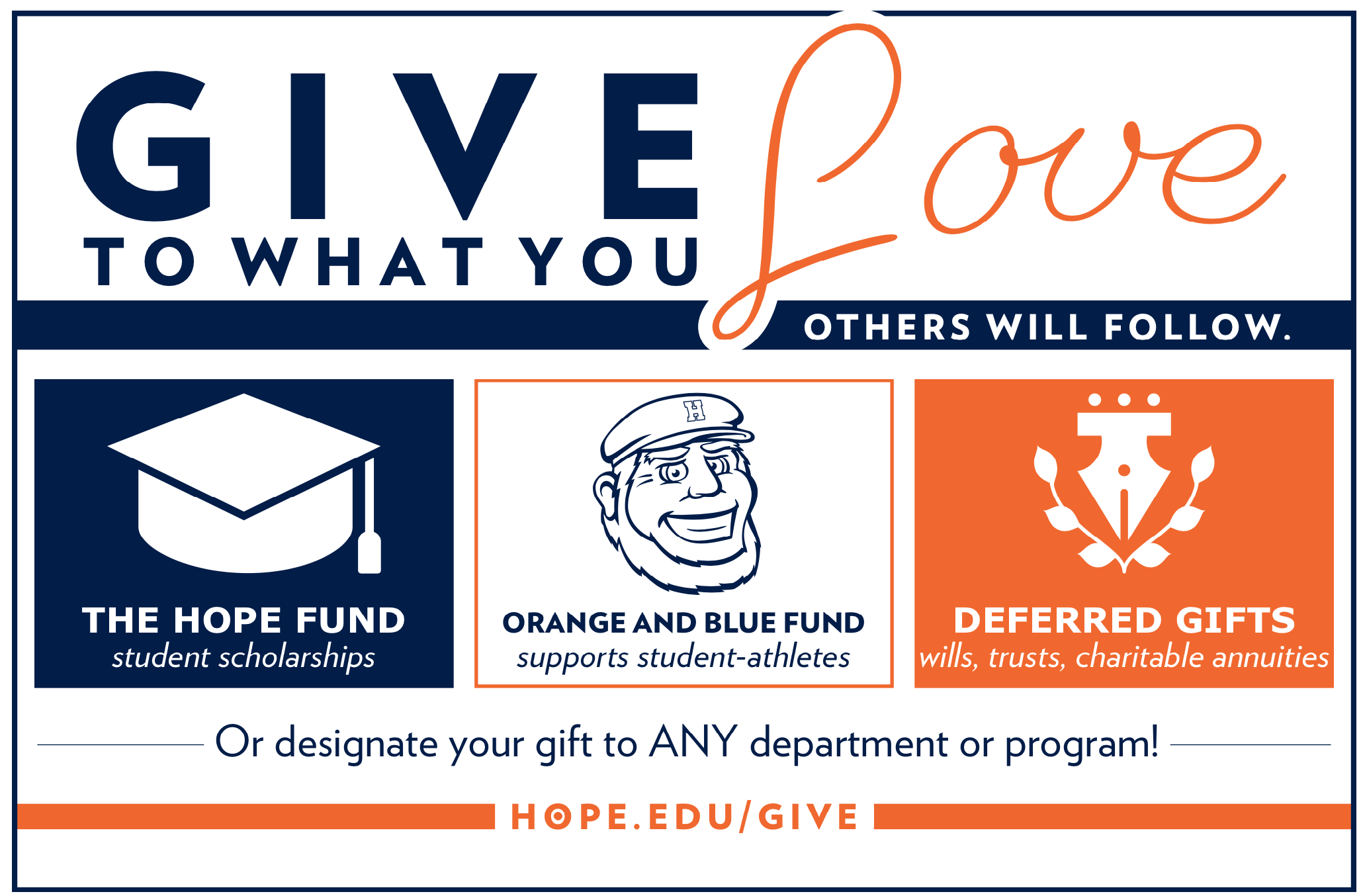 Give to What You Love