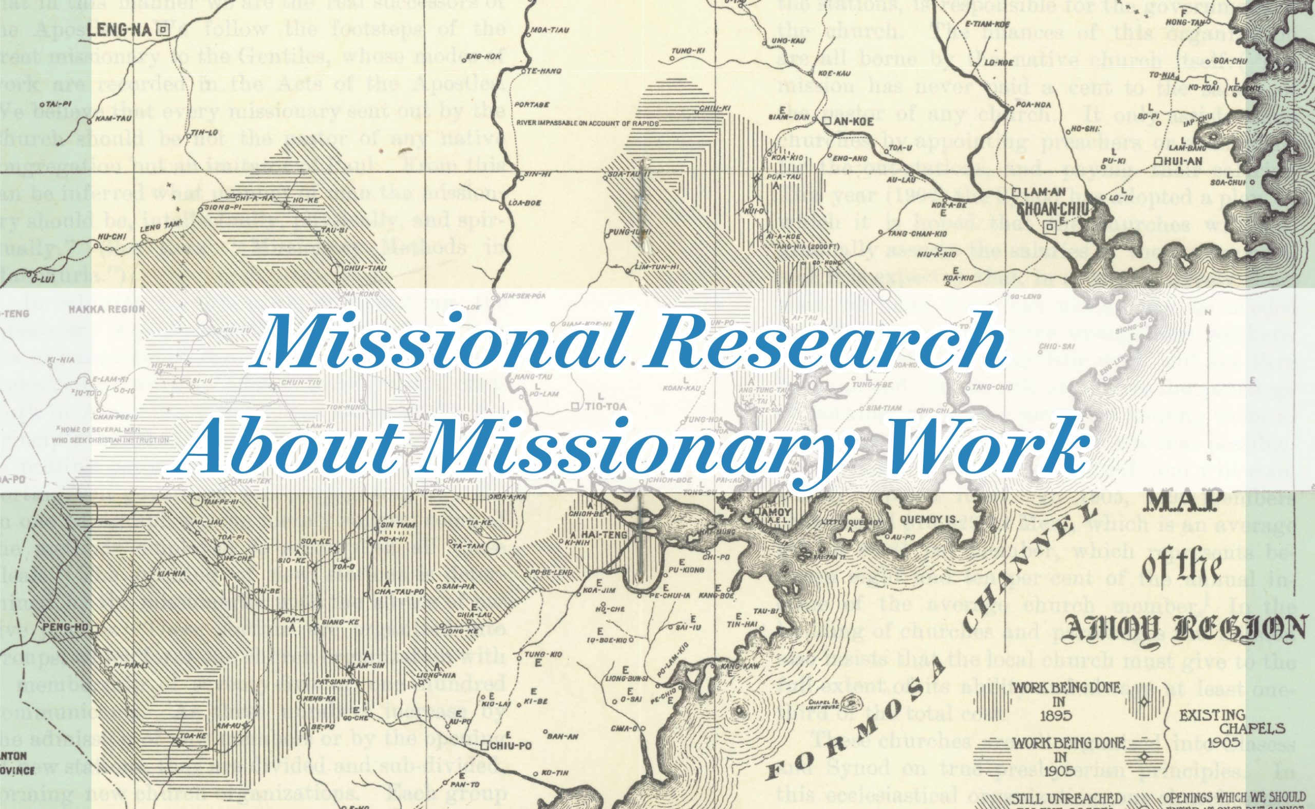 News from Hope: Missional Research about Missionary Work