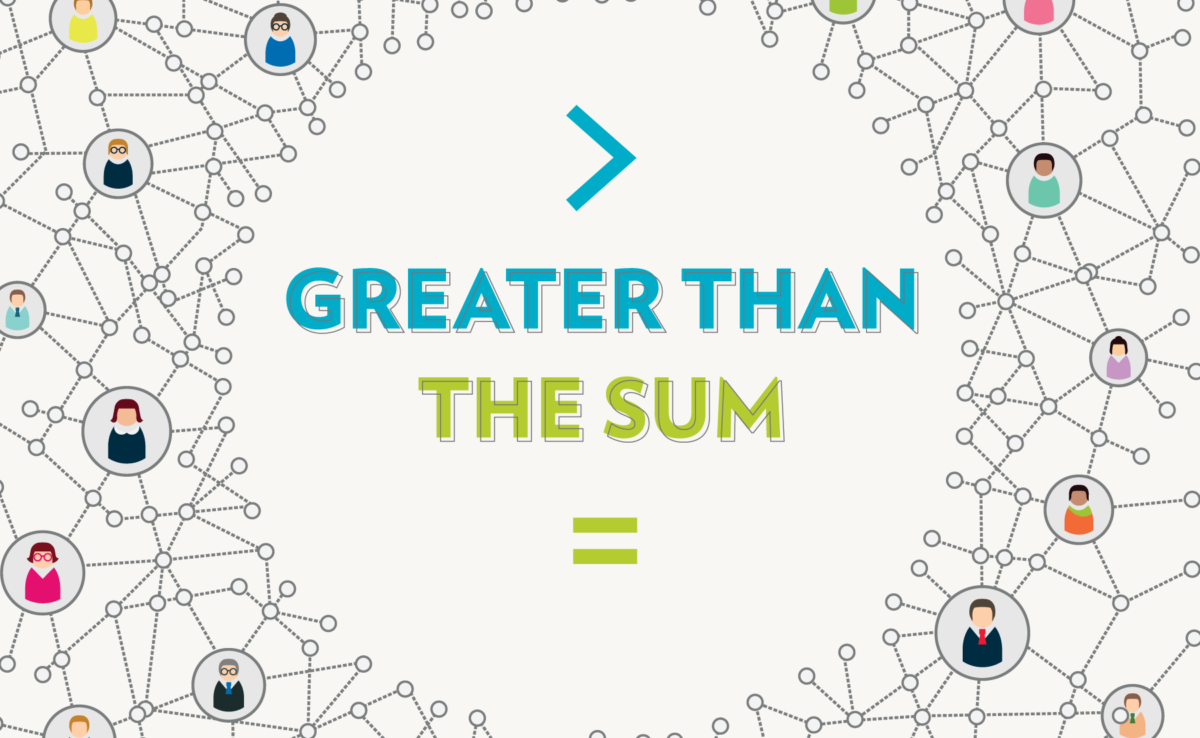Greater than the Sum [title graphic]
