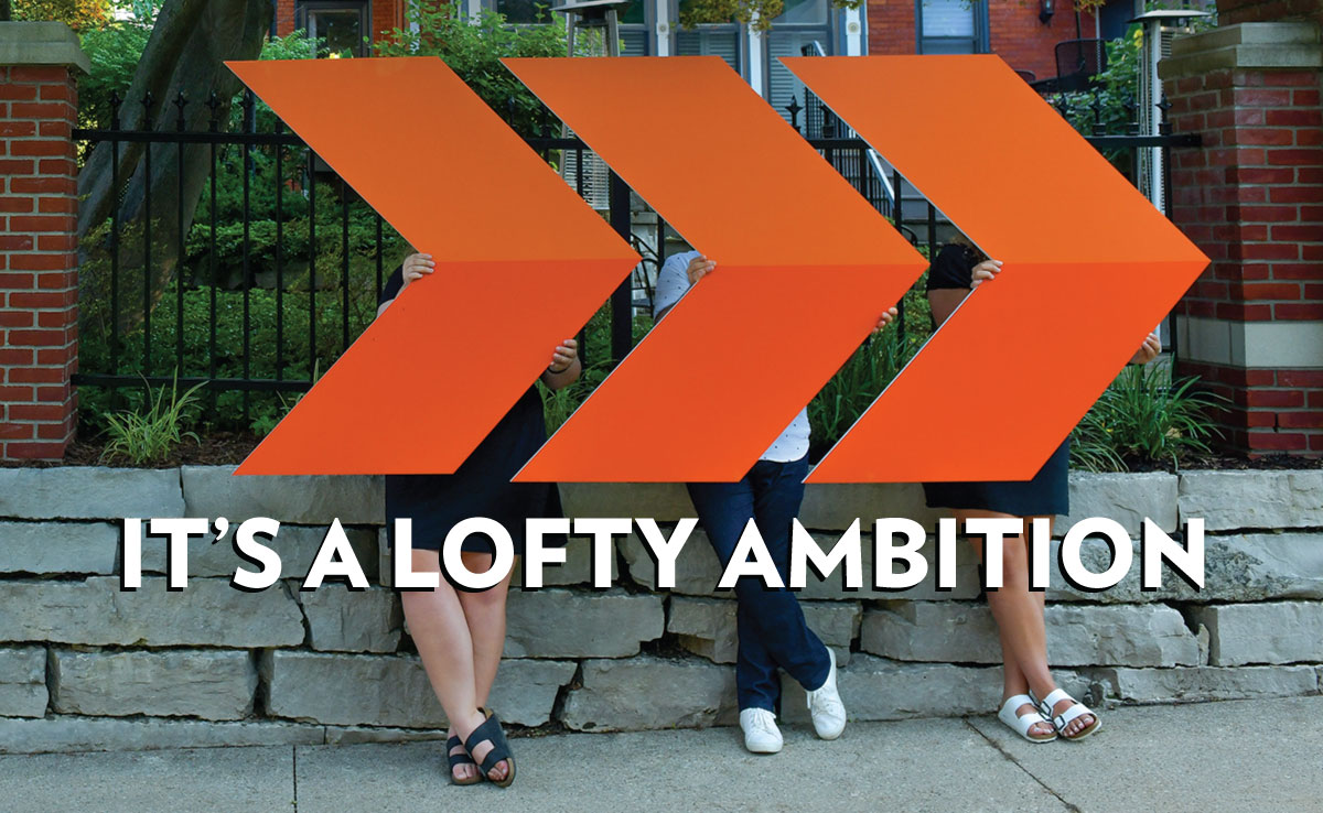 """It's a lofty ambition,  but then again the  college is named """"Hope,"""" not """"Settle."""""""